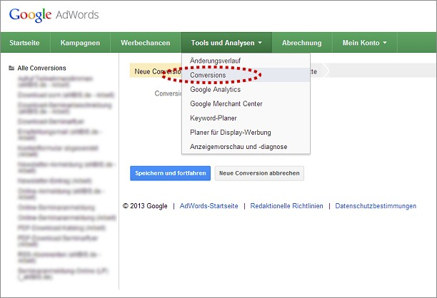AdWords - Conversions