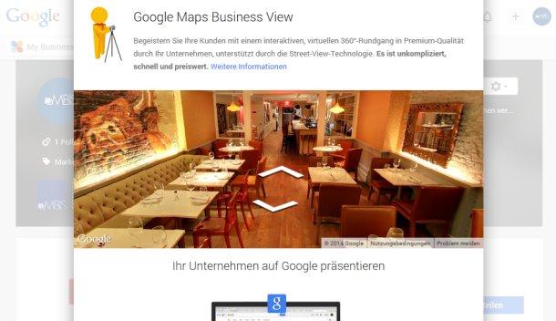 360°-Rundgang bei Google My Business
