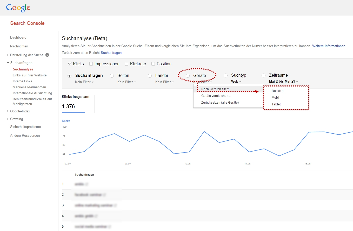 Google Webmaster Tools - Search Console