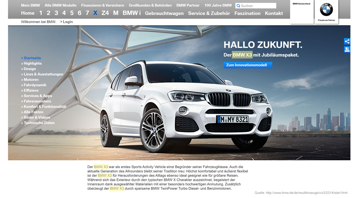 SEO-Bild BMW X3