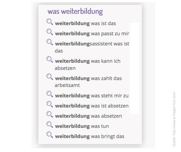 W-Fragen WAS