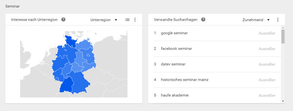 Google Trends - regional