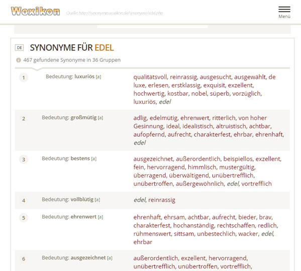 Synonym EDEL