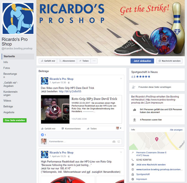 FB: Ricardos Pro Shop