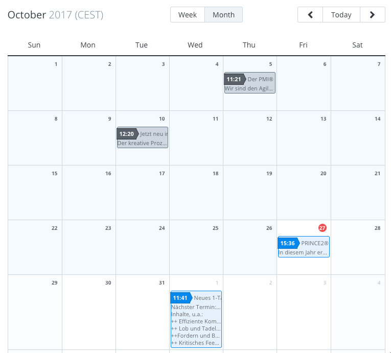 Buffer's Social Media Calendar