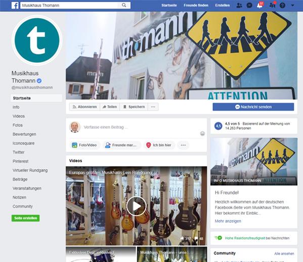 FB: Musikhaus Thomann
